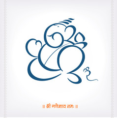 Duel tone color of lord Ganesh