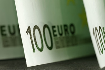 There are Euro money that creates background