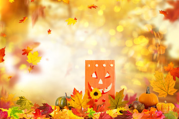 Halloween Golden Background Landscape