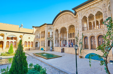 The medieval architecture of Kashan, Iran