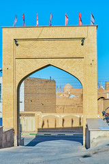 The brick gate, Kashan, Iran