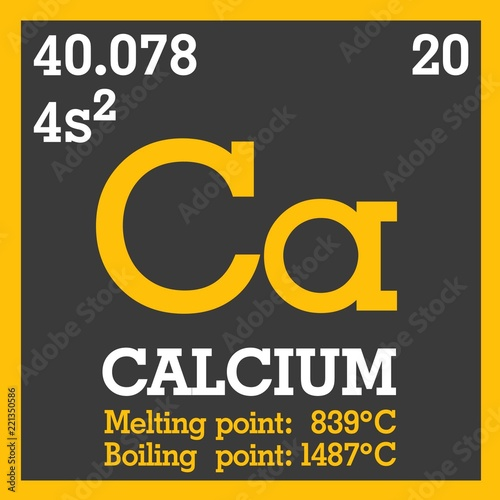 Icon Of The Periodic Table Of Mendeleev Ca Chemical Element Ca
