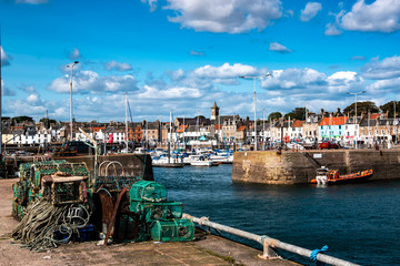Anstruther harbor, Fife.