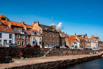 Quiet fishing village in Fife.