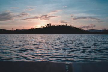 cute sunrise on the lake