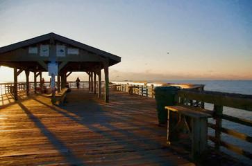 Atlantic Ocean Sunrise in Myrtle Beach South Carolina