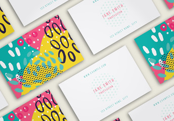 Business Card Layout with Hand Drawn Elements