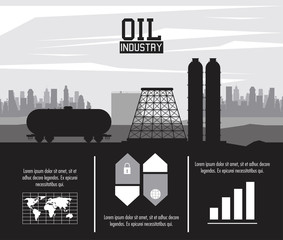 Oil industry infographic