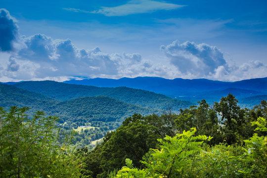 Stormy Skies Over Blue Ridge Mountains