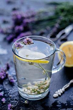 Lavender tea with lemon