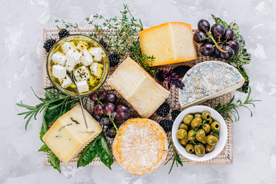 Cheese plate, top view
