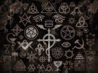Medieval Occult Signs And Magic Stamps, Sigils, Locks, Knots. Mystic symbols of the Illuminati, Masonic Rituals and Black Magic. (Vintage Grime Edition).