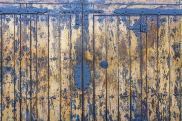 The old antique wooden door
