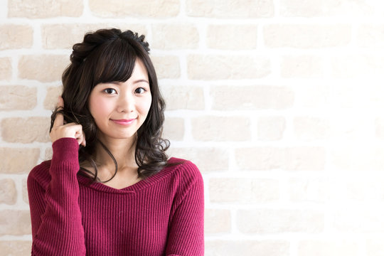 young asian woman hair style image