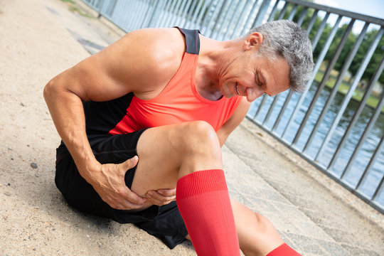 Man With Sprain Thigh Muscle