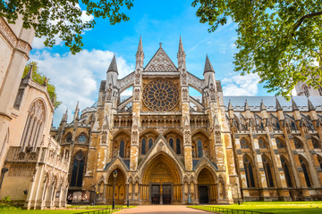 Photo sur Aluminium Edifice religieux Westminster Abbey Church in London, UK