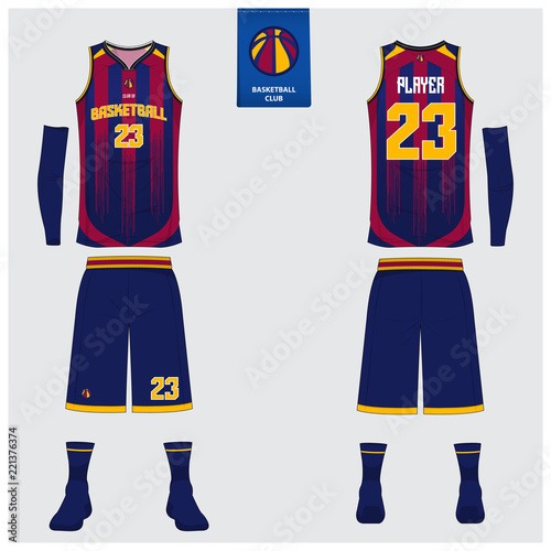 basketball uniform or sport jersey shorts socks template for