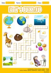 The Letter G Crossword