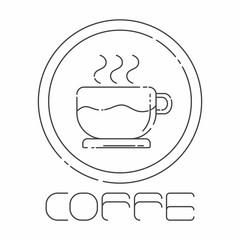 Coffee mono line illustration