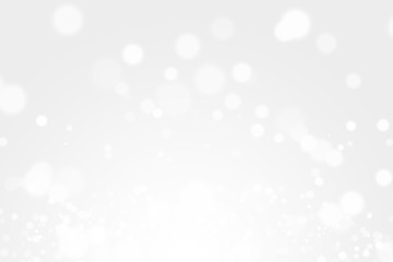 silver bokeh light background beautiful bright blurred glitter effect. decoration for your design