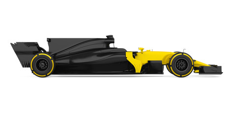 Acrylic Prints F1 Formula One Race Car Isolated