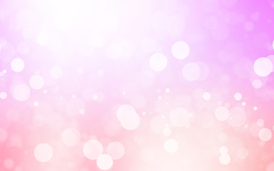 soft pink bokeh background beautiful bright light blurred glitter effect. decoration for your design