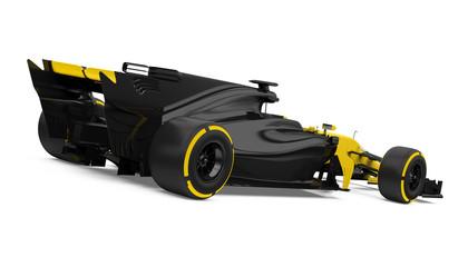 Formula One Race Car Isolated