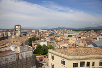 View of the old town Girona, Catalonia, Spain