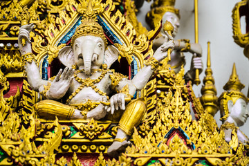 Statue of ganesha, god of wisdom and prosperity.