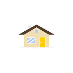 Home icon on white background on flat style.