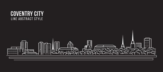 Cityscape Building Line art Vector Illustration design - Coventry city