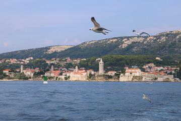 View of old town of island Rab, Croatia