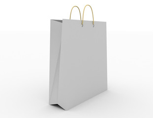 White empty bag for products and goods