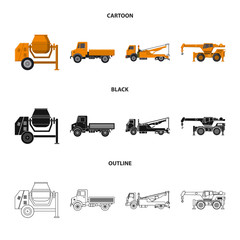 Isolated object of build and construction sign. Collection of build and machinery stock vector illustration.