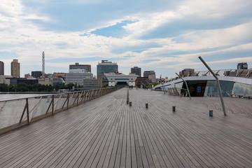 (神奈川県ー都市風景)横浜大桟橋から見る風景10