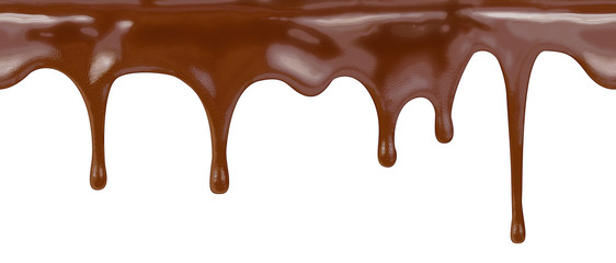chocolate seamless pattern on white background with clipping path