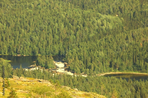 Texture Coniferous Forest Top View Landscape Green Taiga Peaks Of Fir Trees