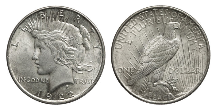 USA 1 Dollar Peacedollar 1922 Silber