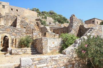 Ruinen auf Spinalonga, Kreta / Griechenland
