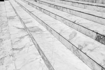 Poster Escalier Empty marble stair - Outdoor modern architecture