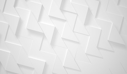 White Zig Zag Futuristic Background (3d illustration)