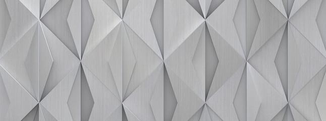 Wide Futuristic Metal Background (Detail 3D Illustration)