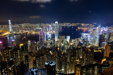 Hong Kong skyline in the evening