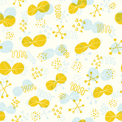 Cute abstract background. Seamless pattern.Vector. かわいい抽象的なパターン