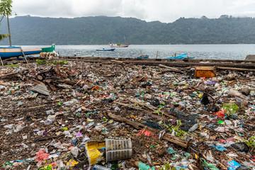 Horrible rubbish sea coastline pollution