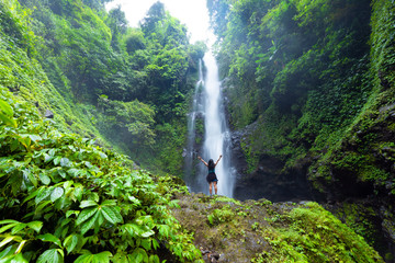 Laangan waterfall in Bali island