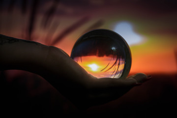 crystal ball and a fantgastic background