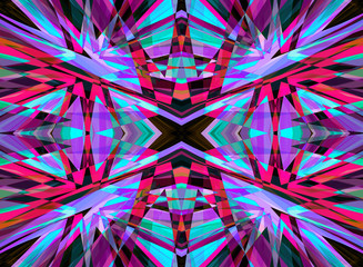 Purple and red shattered kaleidoscope pattern