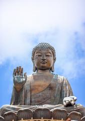 Tian Tan Buddha, Big Budda, The enormous Tian Tan Buddha at Po Lin Monastery in Hong Kong. The world's tallest outdoor seated bronze Buddha located in Nong ping 360.