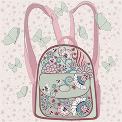 backpack with a pattern